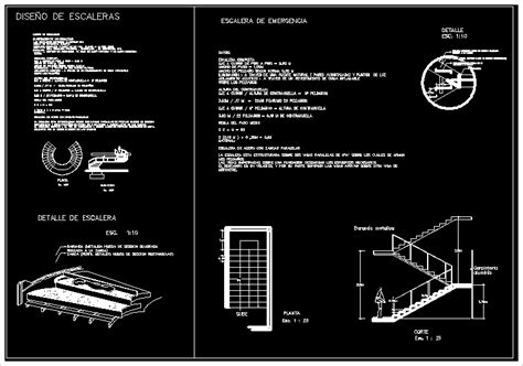 fire escape emergency staircase dwg detail  autocad