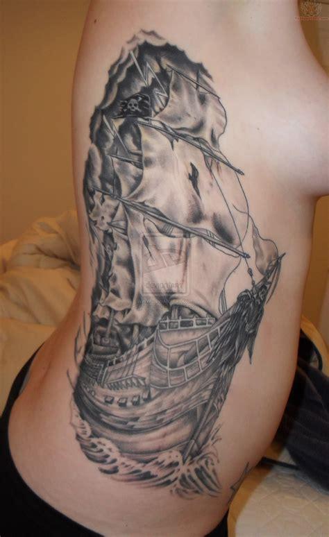 pirate tattoo pirate ship tattoos