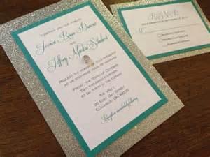 silver bling glitter wedding invitation