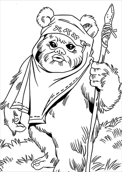 Star Wars Princess Leia Coloring Pages Ewok And Leia Wars Princess Leia Coloring Pages Free Coloring Sheets
