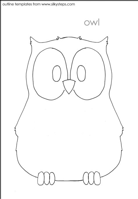 owl pattern worksheet bird outline template owl for the machine pinterest