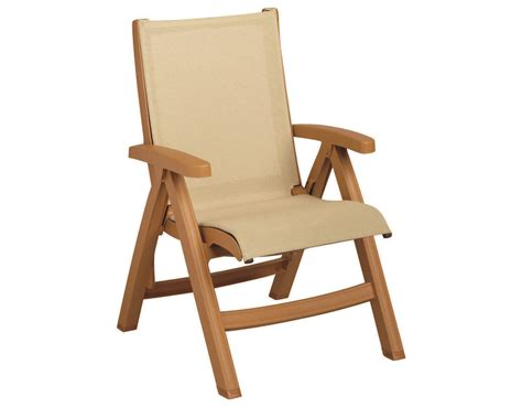 Grosfillex Lounge Chairs by Grosfillex Belize Midback Resin Folding Sling Teakwood