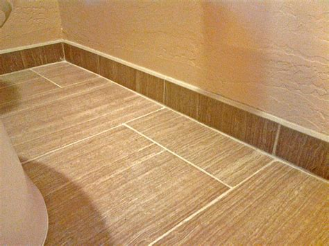 tile or wood baseboard in bathroom bathroom remodeling tile floor tile baseboard san tan