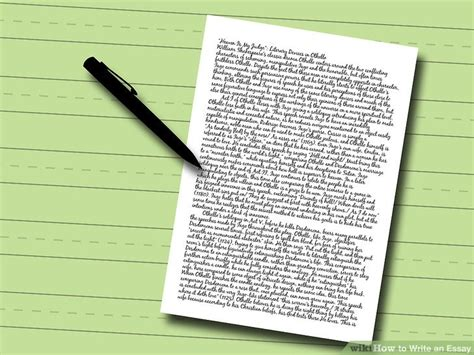 How To Write An Essay On A by How To Write An Essay With Pictures Wikihow