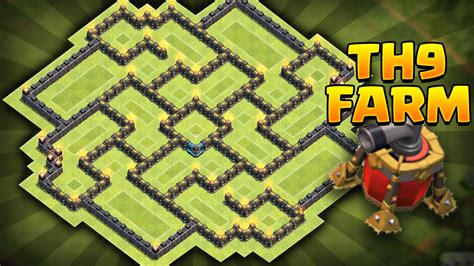 air sweeper town hall 9 farming base clash of clans new update th9 farming base coc best