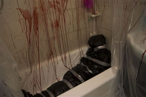 Fake Window Light murder scene halloween decor