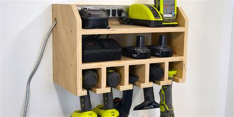 how to a l cordless how to build a storage dock for your cordless drill power