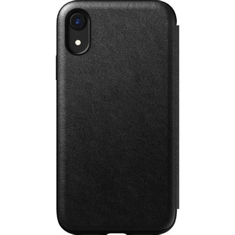 nomad folio rugged leather iphone xr case black sportique
