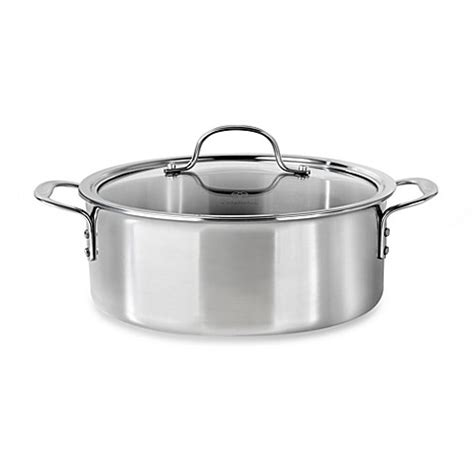 bed bath and beyond calphalon calphalon 174 tri ply stainless steel 5 quart dutch oven with