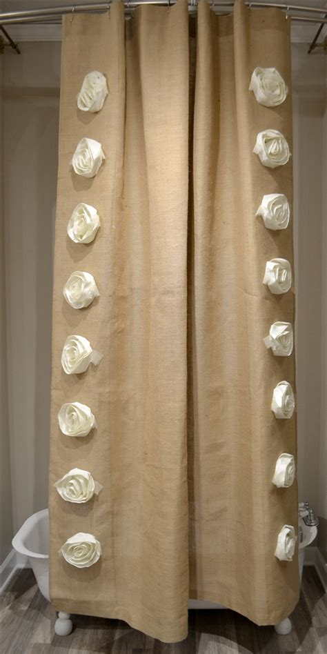72x96 shower curtain natural burlap rose 72x96 shower curtain