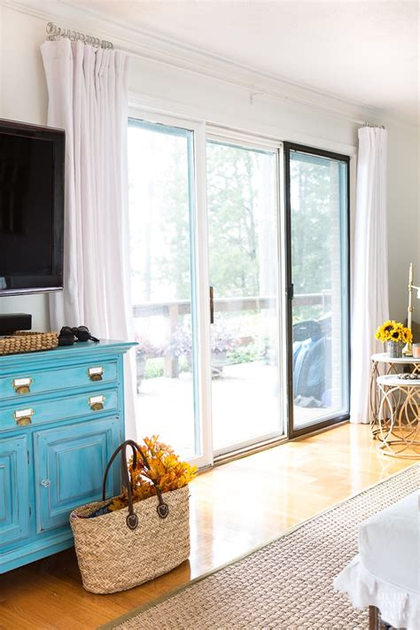 Curtains For Big Sliding Doors How To Make Wide Drapes For Sliding Glass Doors In My Own Style