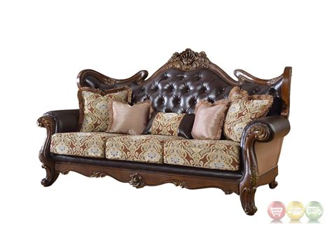 beige tufted sofa modena winged back beige sofa with brown tufted leather