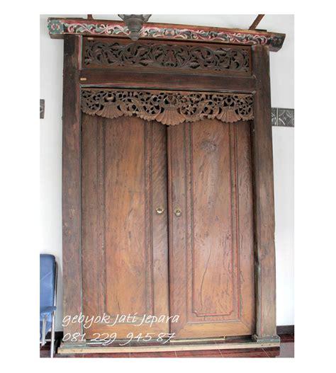 Kusen Pintu Model Gebyog Antik Jati Jepara pintu gebyok minimalis kayu jati gebyokjatijepara