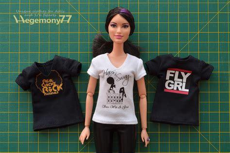 t shirt doll design custom barbie doll t shirts black white v neck
