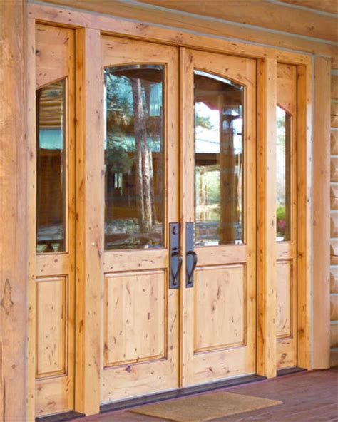 Knotty Pine Exterior Doors Pine Doors 4 Panel Clear Pine 2 Light Glazed Door