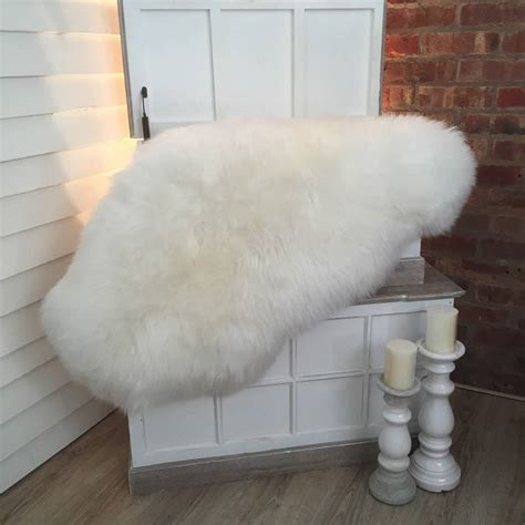 ivory sheepskin rug luxury ivory sheepskin rugs by cowshed interiors notonthehighstreet