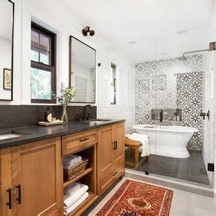 beautiful black  white tile bathroom pictures