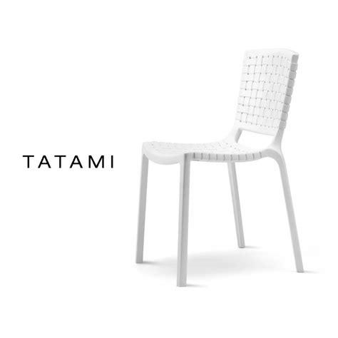 Chaise De Couleur En Plastique by Lot De 6 Chaises Tatami Plastique Effet Tress 233