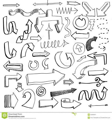 hand drawn vector tutorial arrow set stock image image 35484811