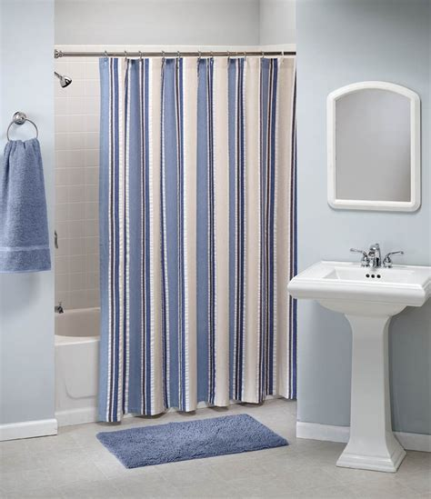 nautical stripe shower curtain pin by saturday knight ltd on anchors away pinterest