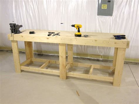 plywood work bench build workbench