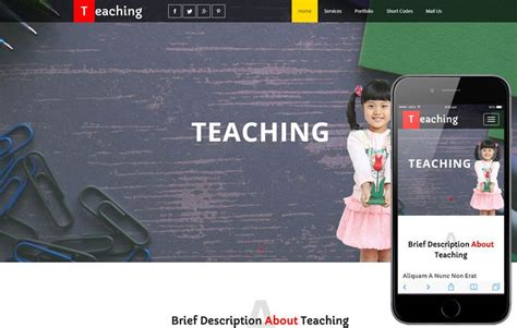 teaching school bootstrap html template html education