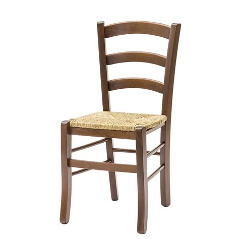 sedia paesana sedia paesana con fondino paglia color noce 2 pezzi