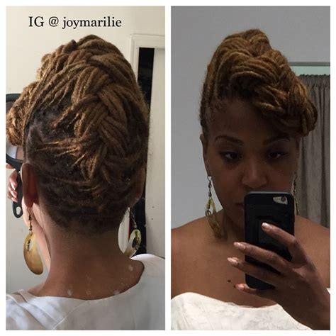 dreadlock styles for women pompadour french braid pompadour loc style my loc styles and