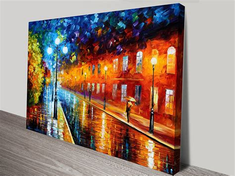 canvas prints blue lights leonid afremov artwork on canvas