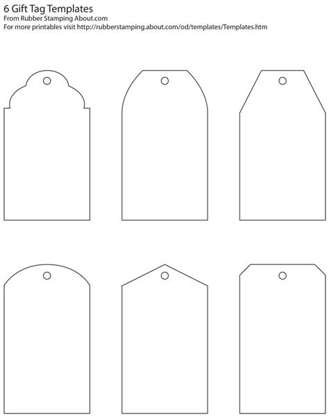printable tag template make your own custom gift tags with these free printable