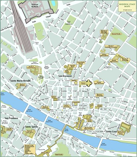 map of florence italy florence tourist map florence italy mappery
