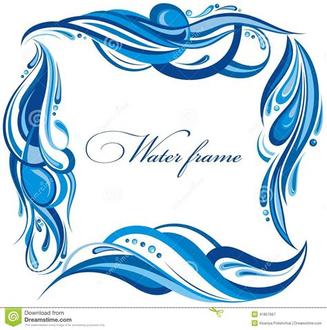 decorative water frame stock photo image 41857667