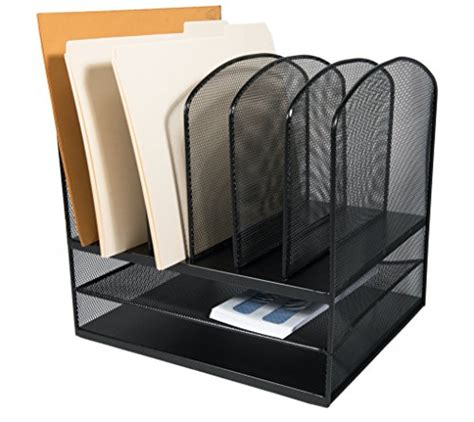 upright paper holder for desk adiroffice mesh desk organizer desktop paper file folder