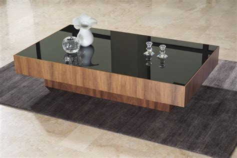 black modern coffee table large : Elegant Black Modern