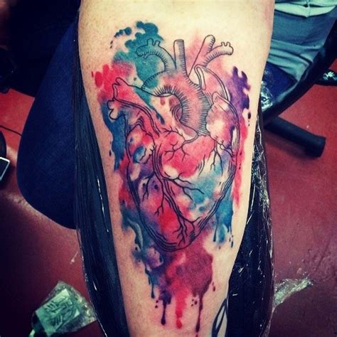 tattoo realistic heart realistic aquarelle heart tattoo best tattoo ideas gallery