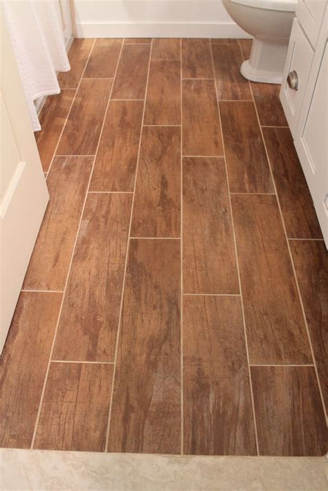 Plank Floor Tile 27 Ideas And Pictures Of Wood Or Tile Baseboard In Bathroom
