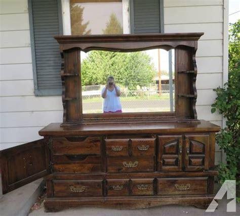 Dresser With Mirror Hutch by 9 Drawer Dresser W Hutch Mirror For Sale In Klamath