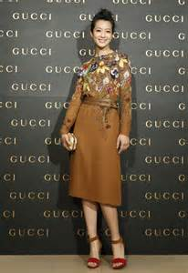 Resort 2013 gucci dress at the gucci store opening in taipei taiwan
