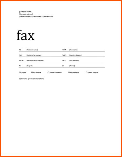 pin microsoft fax cover sheet template on pinterest