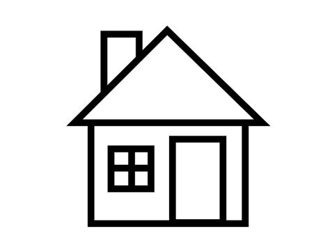 House Clipart Black And White Clipartfest