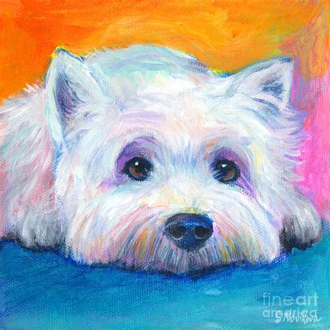 West Highland Terrier Painting Painting