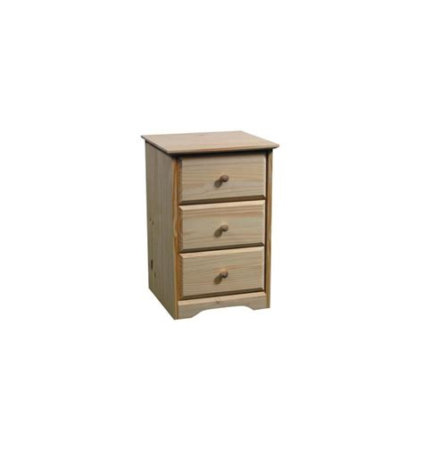 3 Drawer Nightstands 17 Inch Afc Shaker 3 Drawer Nightstand Bare Wood Wood Furniture Groton Ct