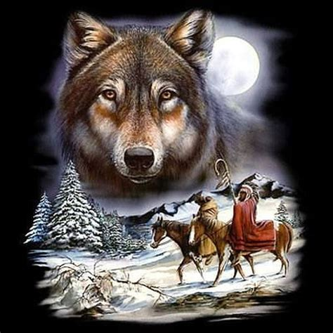 native american wolf spirit adult unisex native american indian wolf spirit t shirt