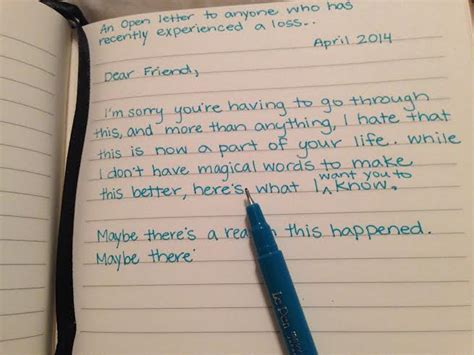 up letter to a loved one an open letter to anyone who has recently experienced a