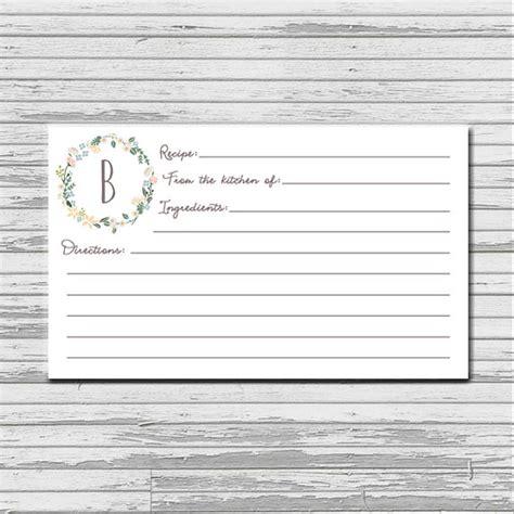 printable decorative recipe cards items similar to recipe card 3x5 printable download
