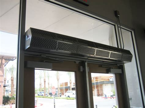 Commercial low profile 8 air curtain berner