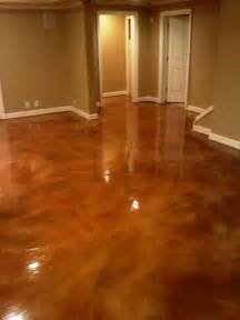 painting concrete floors with epoxy brown color decor inside house ideas