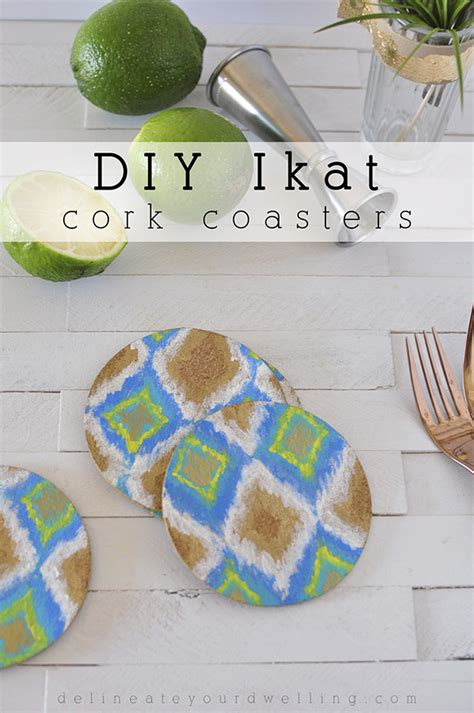 coasters diy easy diy ikat cork coasters