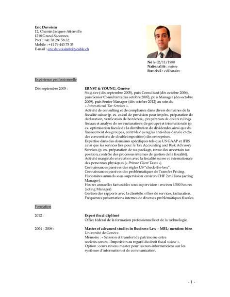 Exemple Cv Suisse by Exemple Cv Suisse Frontalier Cv Anonyme