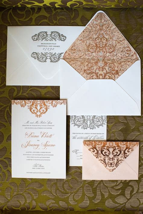 Nyc Themed Wedding Invitations by Glamorous Indoor Garden Wedding In New York City And